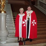 Grand Master David Rolfe and Dame Margaret Rolfe in Budapest in 2010