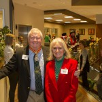 Grand Marshal Bill Peacock and his wife at Commandery fundraiser.