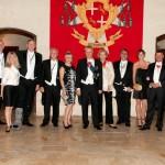 Grand Prior of Central Europe Martin Marschner von Helmreich in the middle of Central European members in Malta 2014