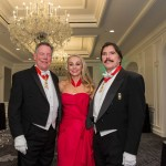 Commander Giselle Farris with Chevaliers William Gisvold and John Rosin at the 2015 Christmas Ball.